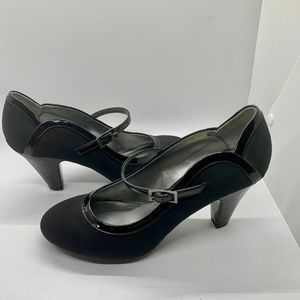 Naturalizer Brigid Black Mary Jane Heels - 7